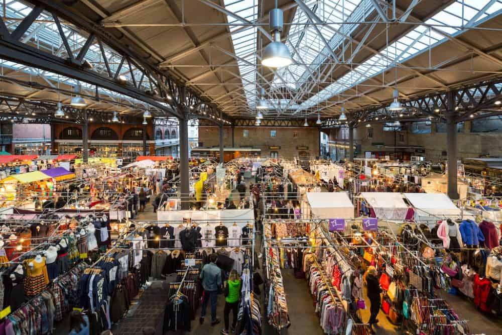 Shopping in Spitalfields Market London
