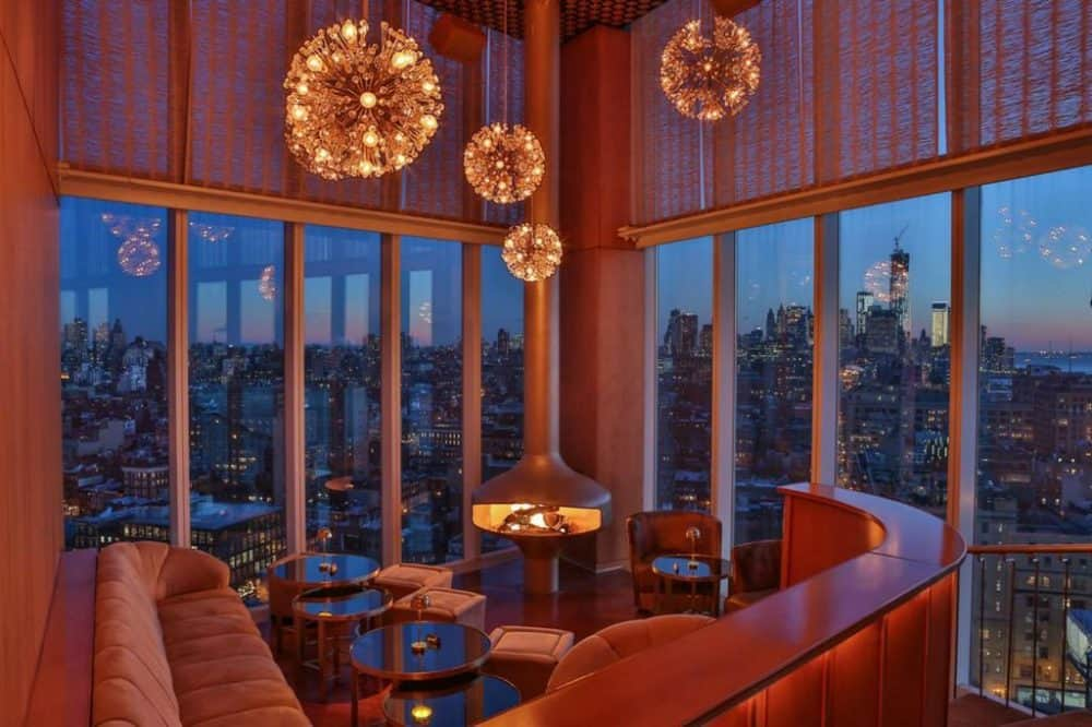 A hip upscale hotel in New York