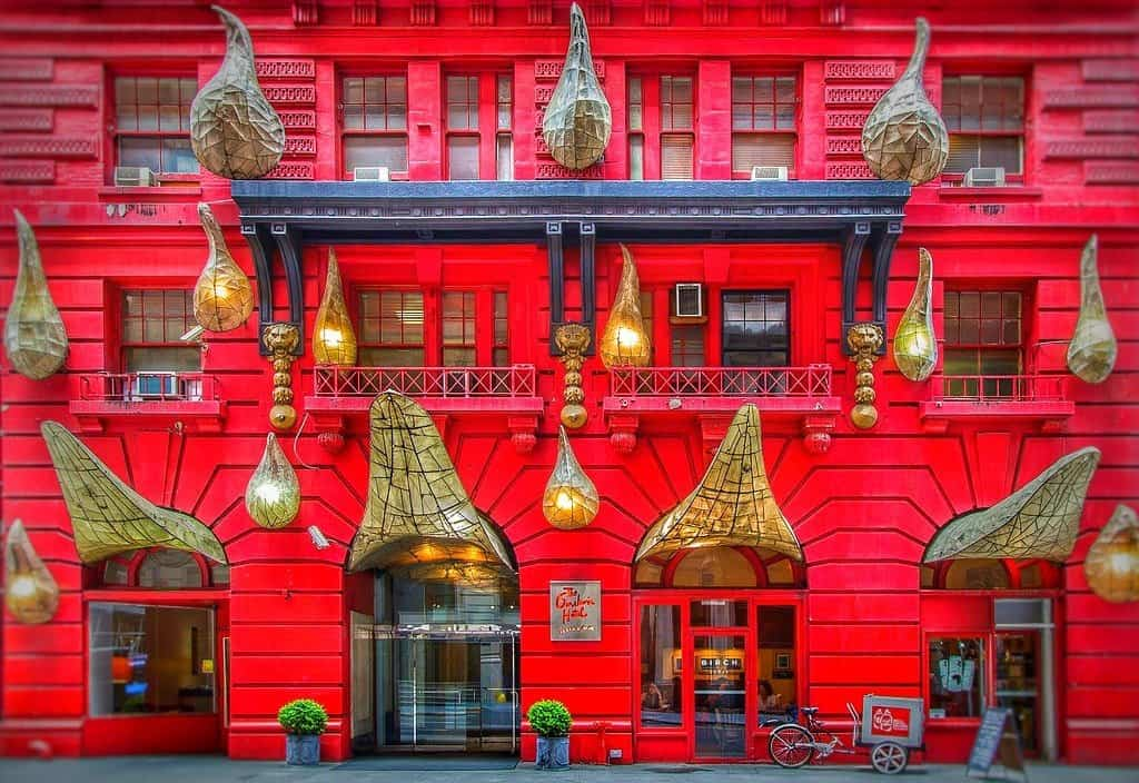 A trendy hotel in New York