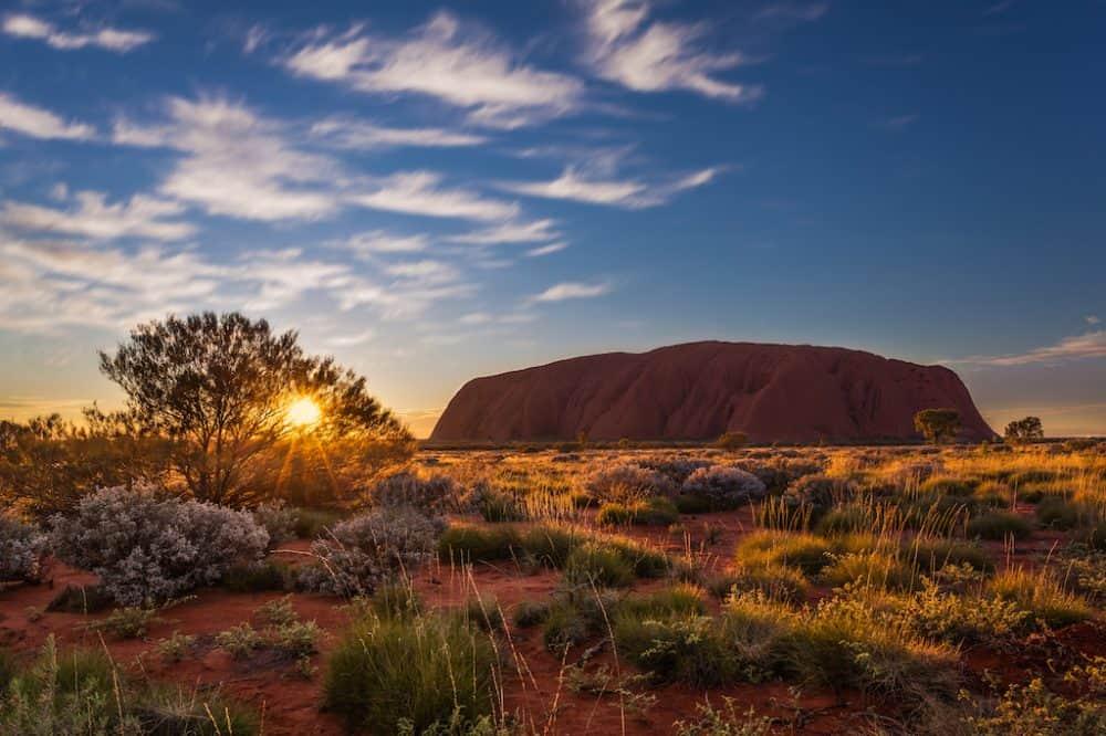 Uluru Australia at sunset