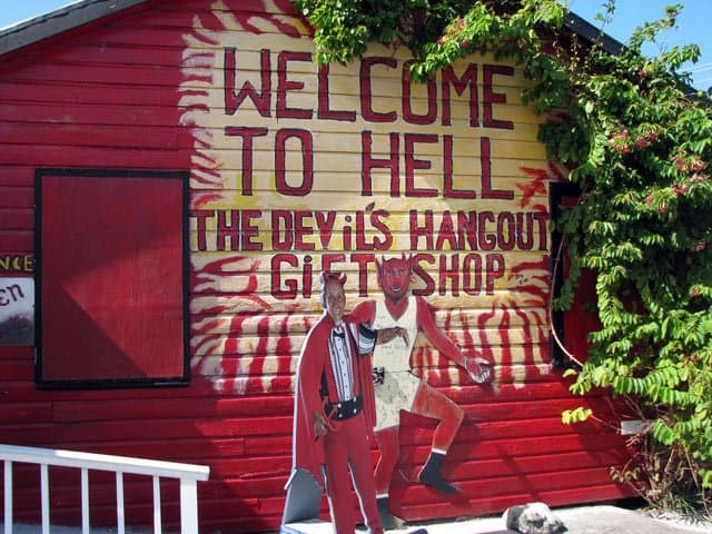 hell shop on Grand Cayman