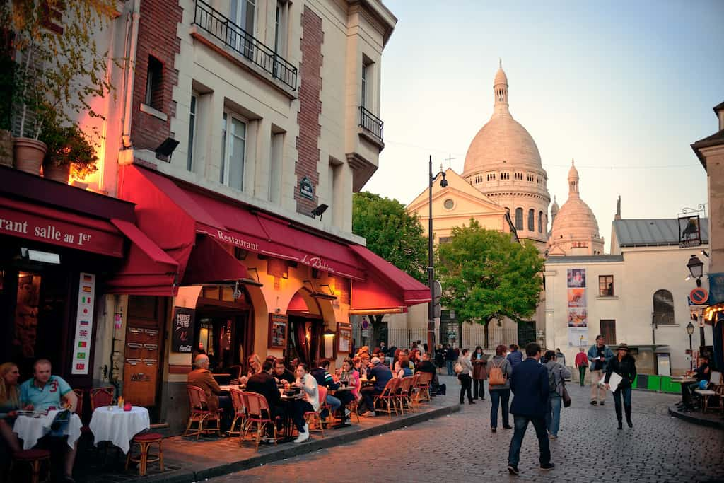 Monmarte neighbourhood in Paris
