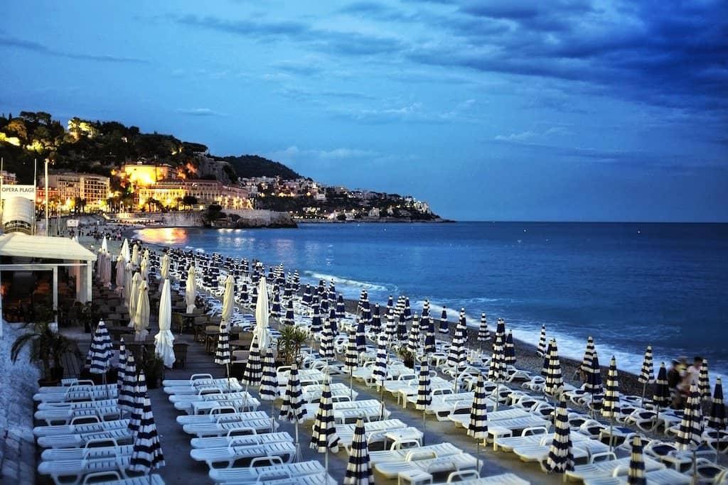 Nice beach in France
