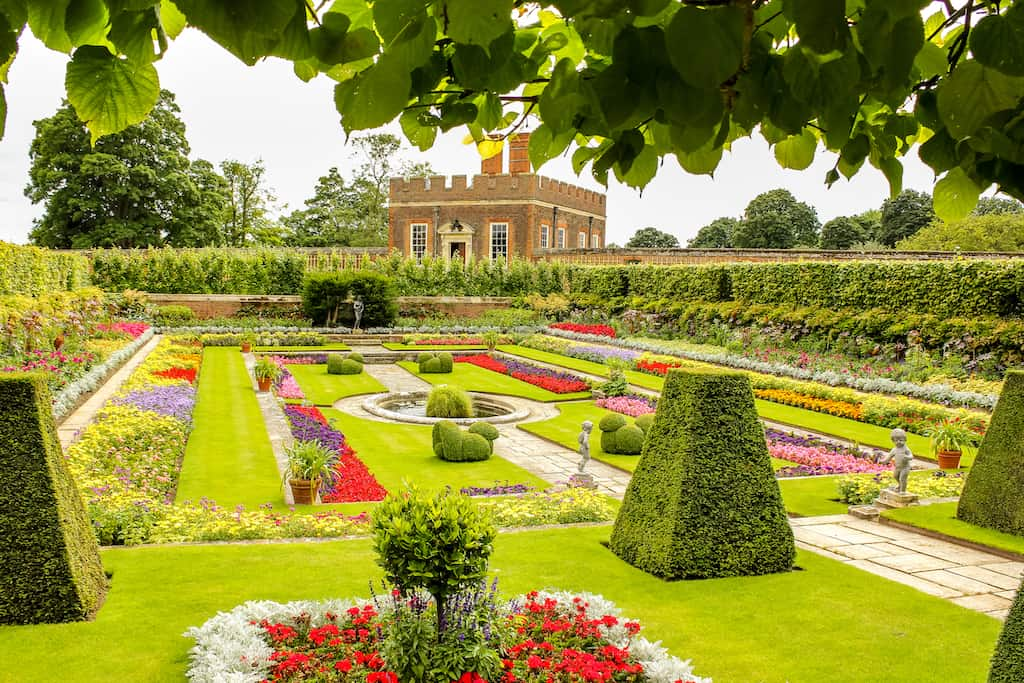 Summer at Hampton Court gardens