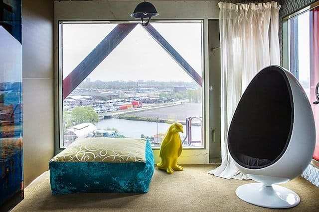 Faralda crane hotel - cool and unusual hotels in Amsterdam