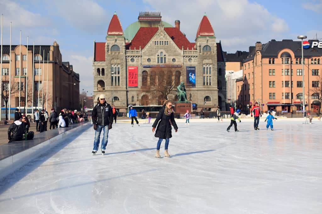 Ice Skating in Helsinki