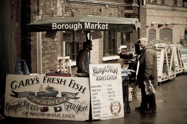 Borough Market, Gary's Fresh Fish, London on GlobalGrasshopper.com