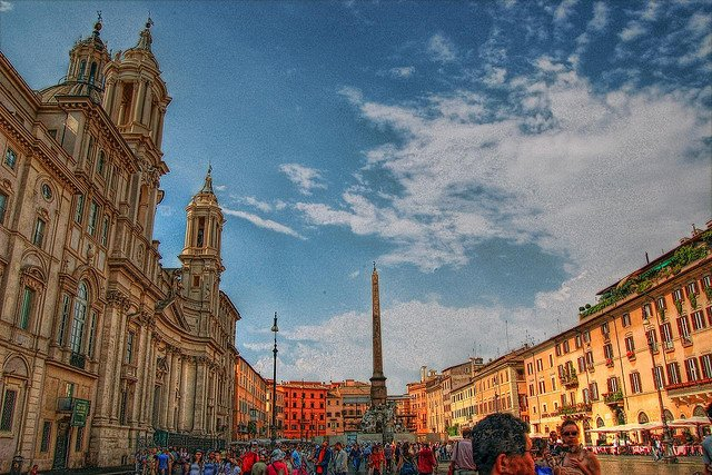 Piazza Navona, Rome on GlobalGrasshopper.com