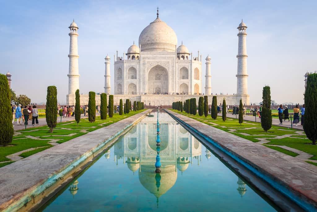 Taj Mahal - most beautiful places in India