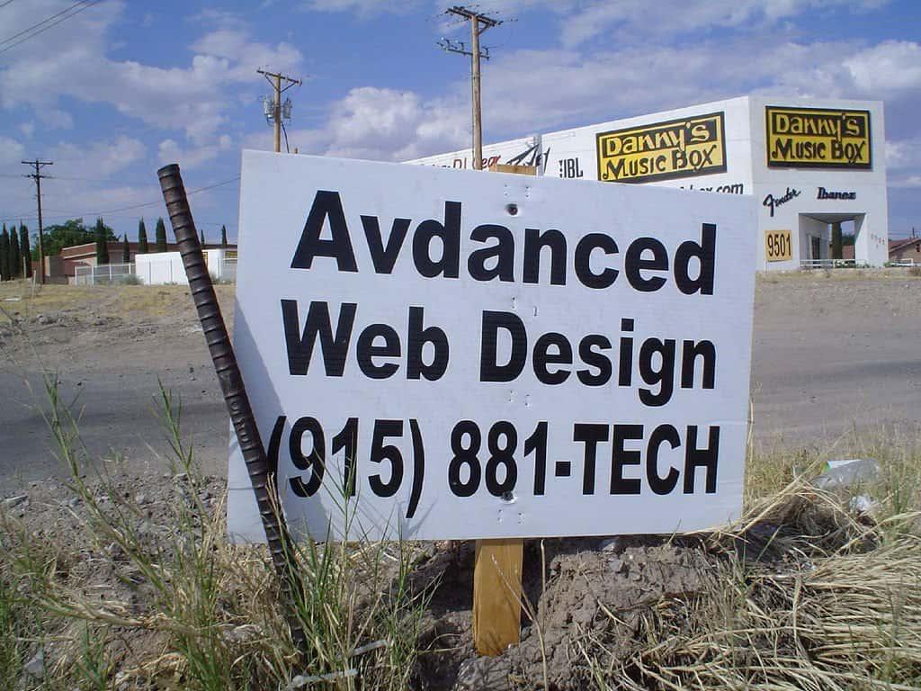 Avdanced web design sign on GlobalGrasshopper.com