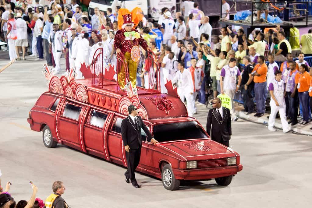 Car at Rio carnival