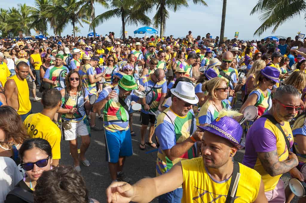 Crowd at Rio Carnival