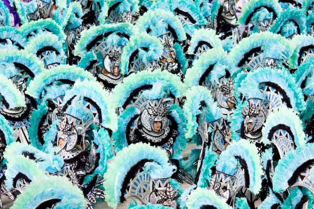 Dancers in a parade at Rio carnival