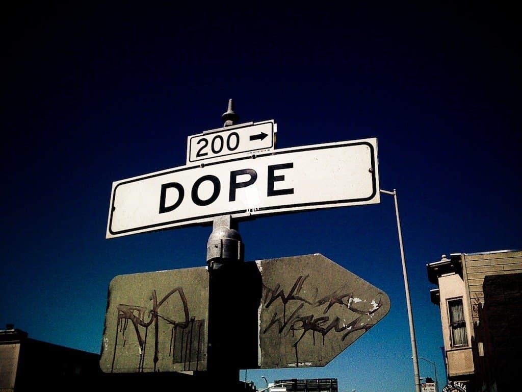 Dope road sign on GlobalGrasshopper.com