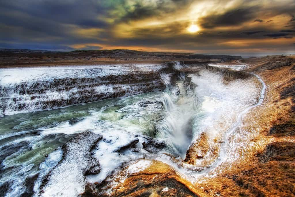 Gullfoss Waterfall, Iceland on GlobalGrasshopper.com