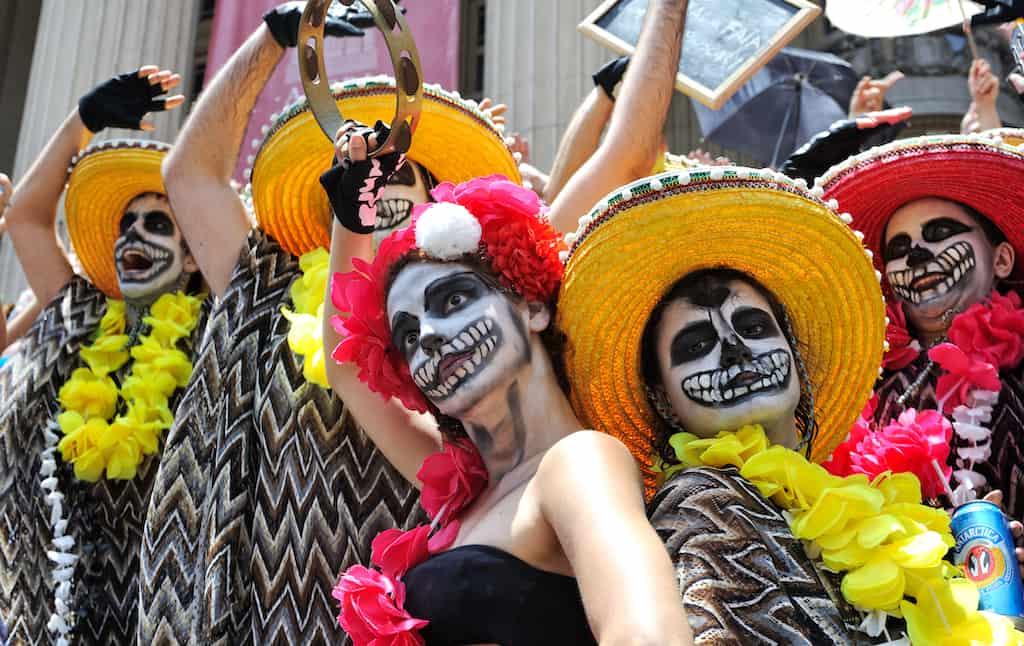 skull costumes at Rio carnival