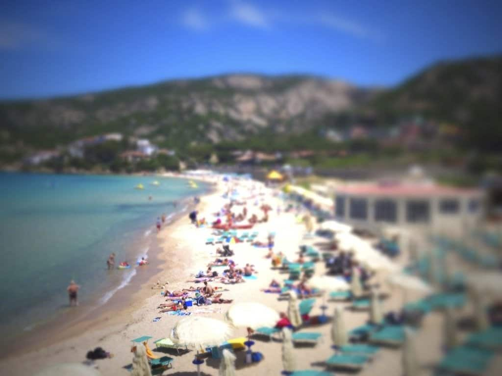 Baia Sardinia - tilt shift photography on GlobalGrasshopper.com