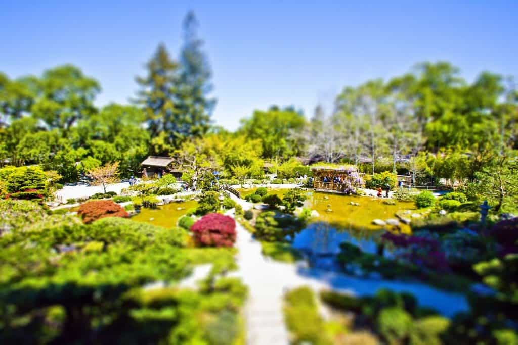 Hakone Gardens, Japan - tilt shift photography on GlobalGrasshopper.com