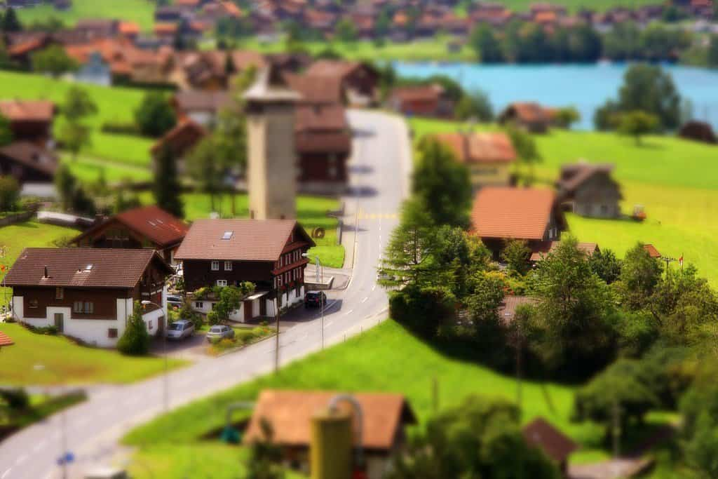 Interlaken Switzerland - tilt shift photography on GlobalGrasshopper.com