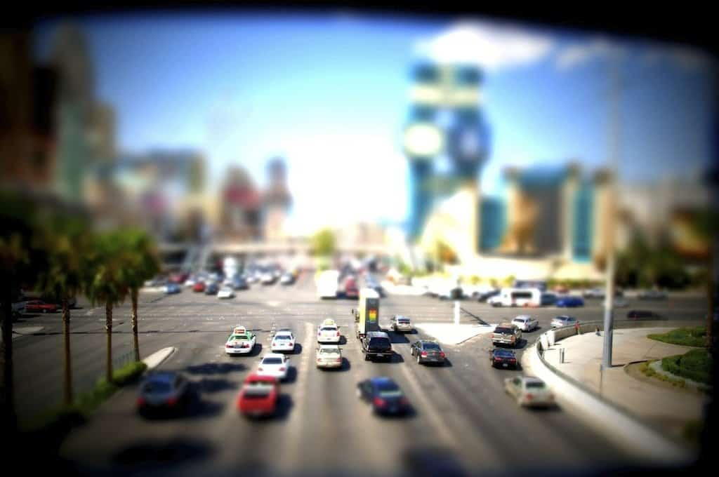 Las Vegas - tilt shift photography on GlobalGrasshopper.com