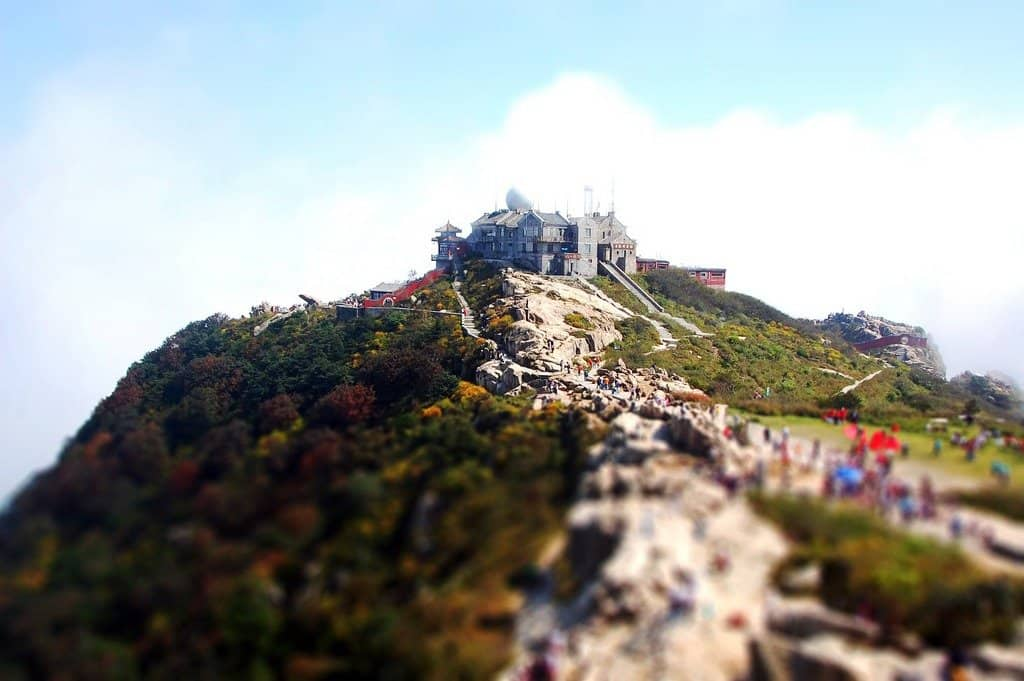 Mount Tai China - tilt shift photography on GlobalGrasshopper.com