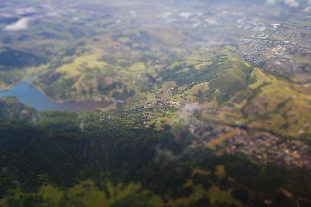 San Jose Hills - tilt shift photography on GlobalGrasshopper.com