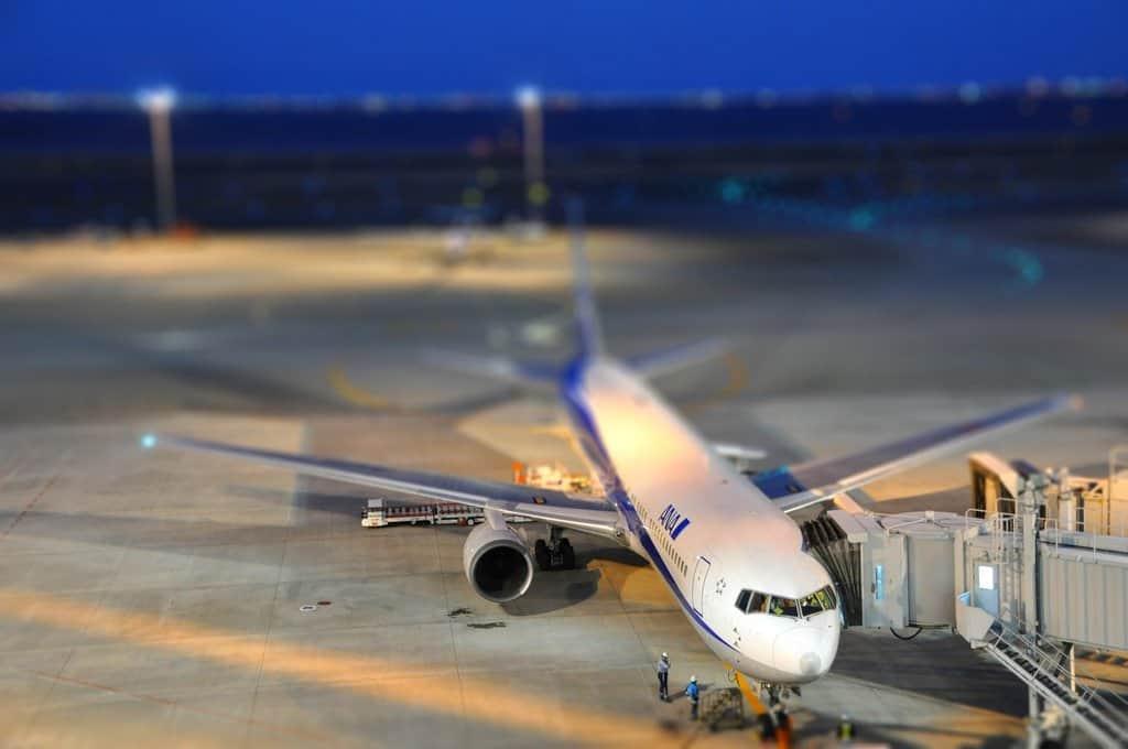 Tokyo Haneda Airport - tilt shift photography on GlobalGrasshopper.com