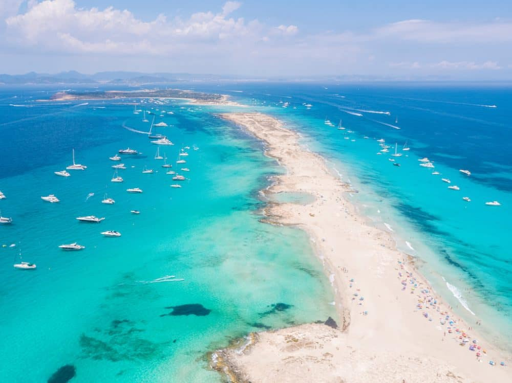 beautiful beach in Formentera