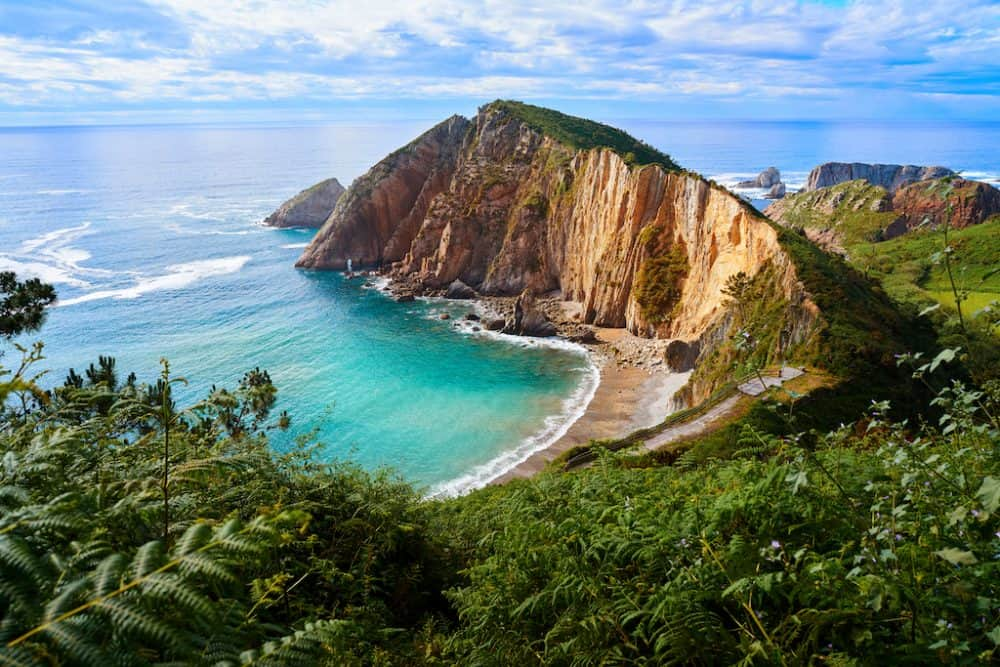 Playa del Silencio - one of the most beautiful beaches in Spain