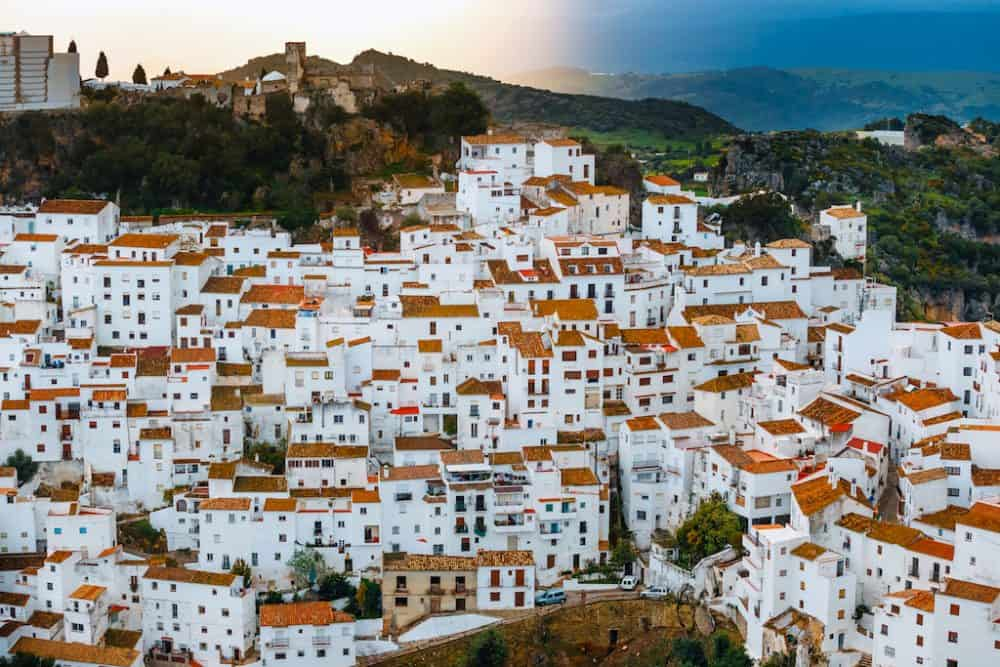 pueblo blanco Casares Spain - the white city