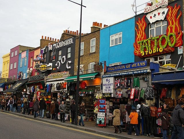 Camden, shopping in London on GlobalGrasshopper.com