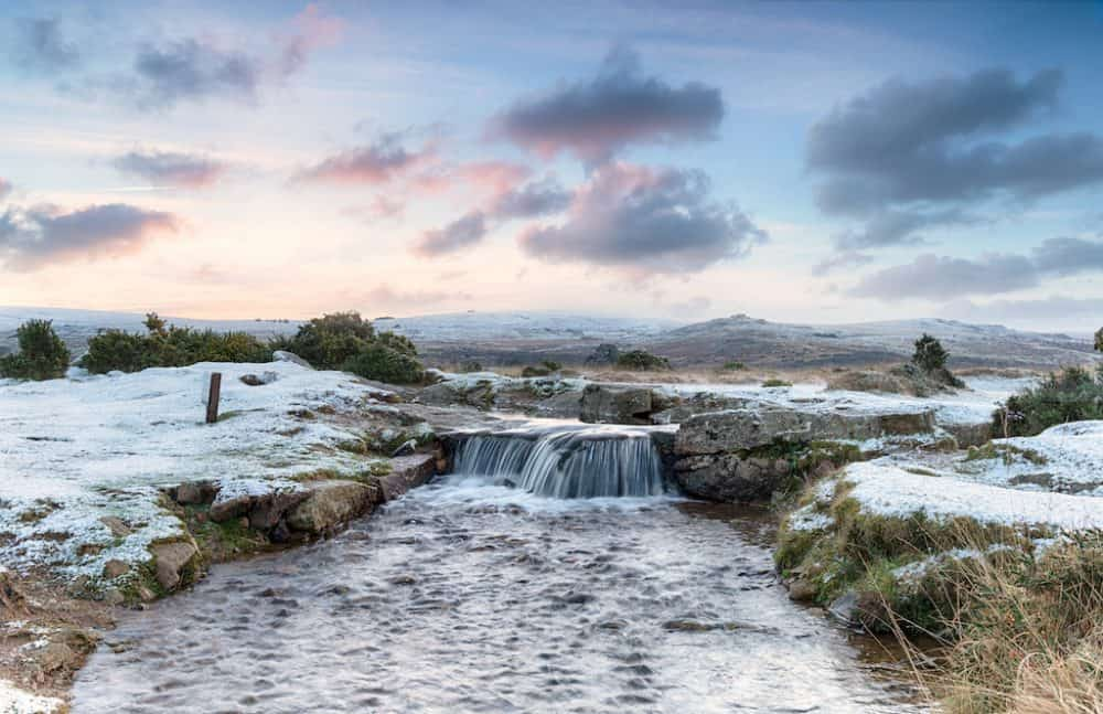 Dartmoor National Park in the winter