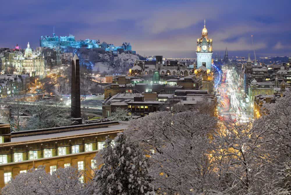 Visiting Edinburgh at Christmas