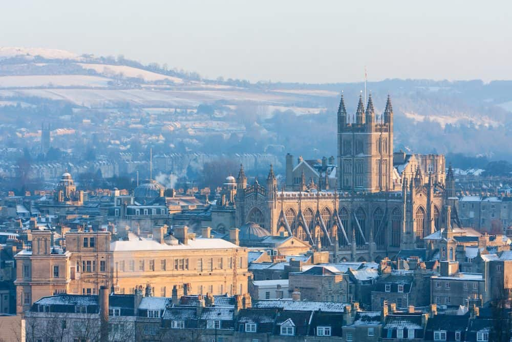 Bath, Somerset in the winter