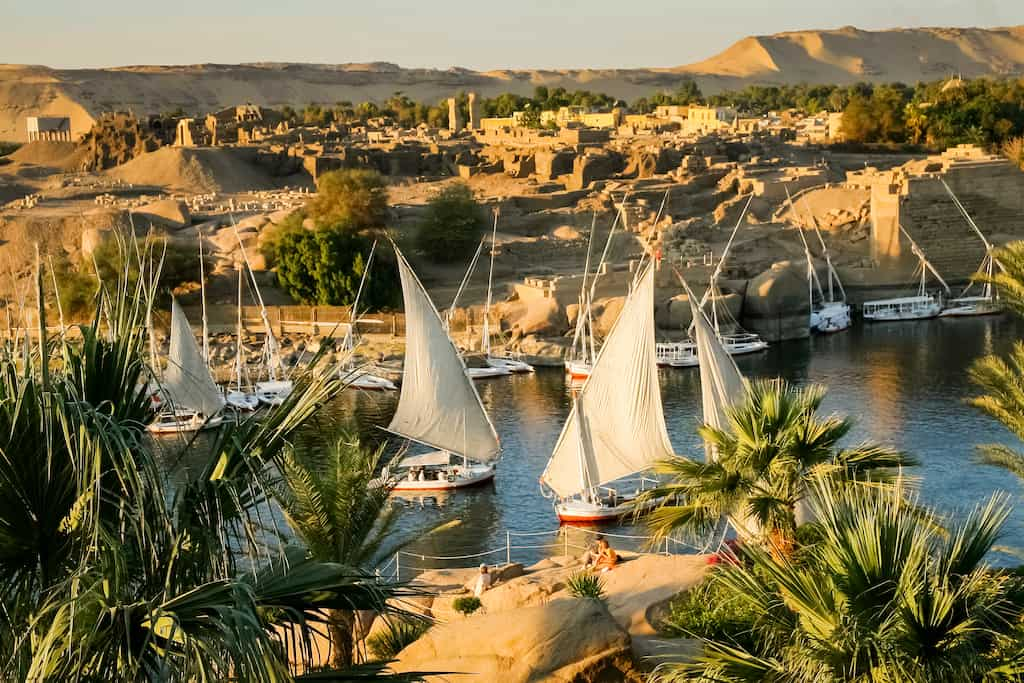 Aswan city in Egypt