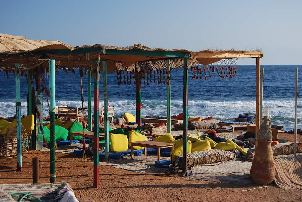 Dahab beach in Egypt