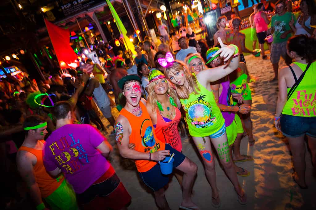 Best full moon parties in Thailand