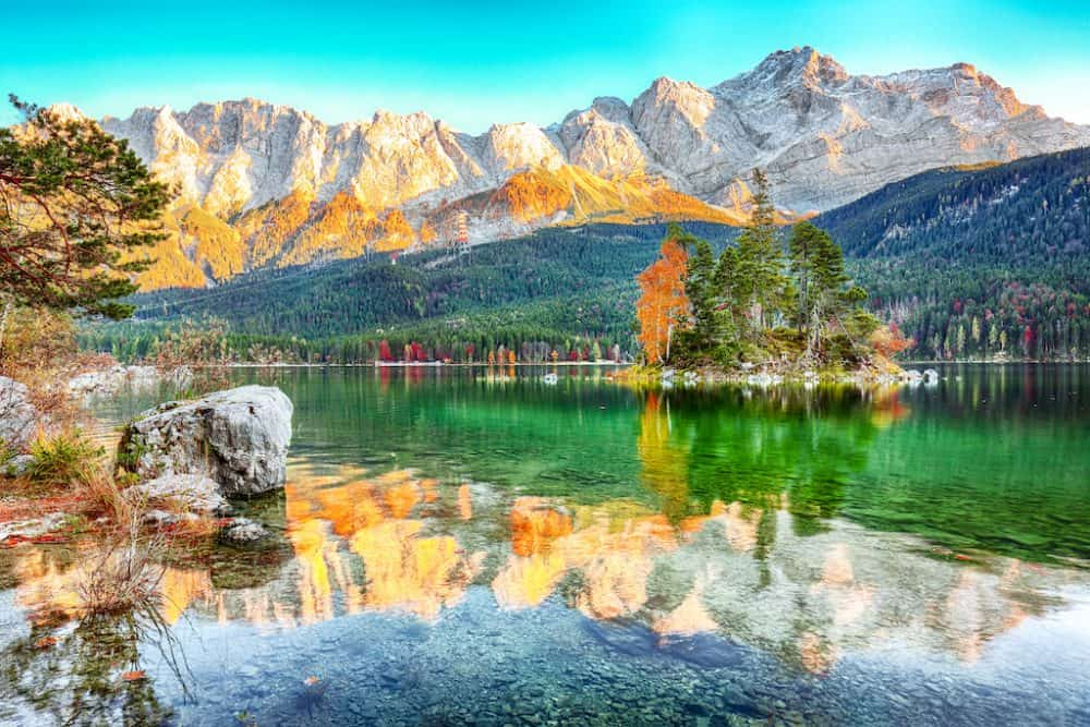 Eibsee Lake in Germany