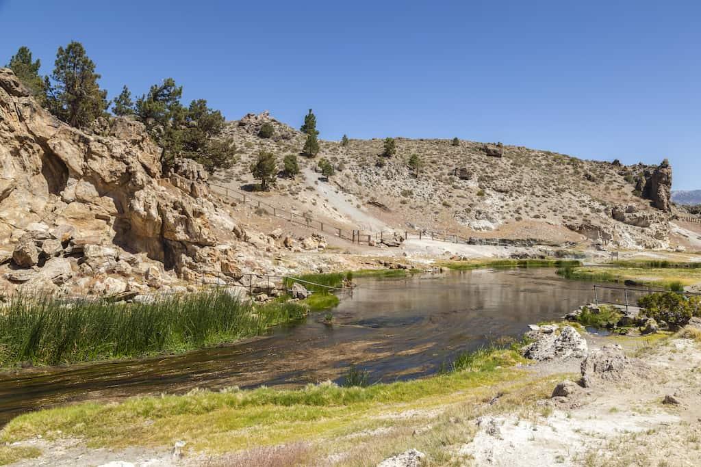 Mono Hot Springs in California