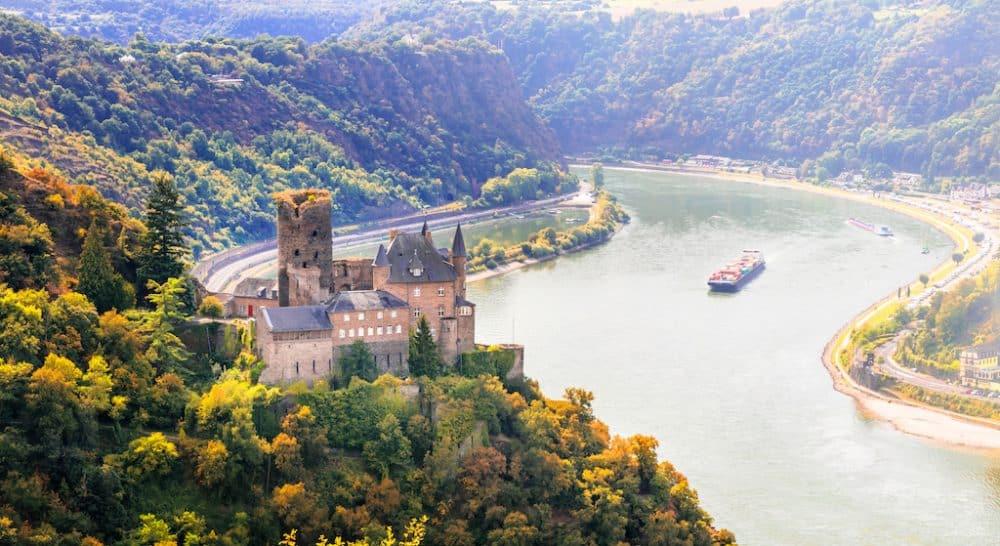 Rhine Valley- beautiful river in journeys in Europe