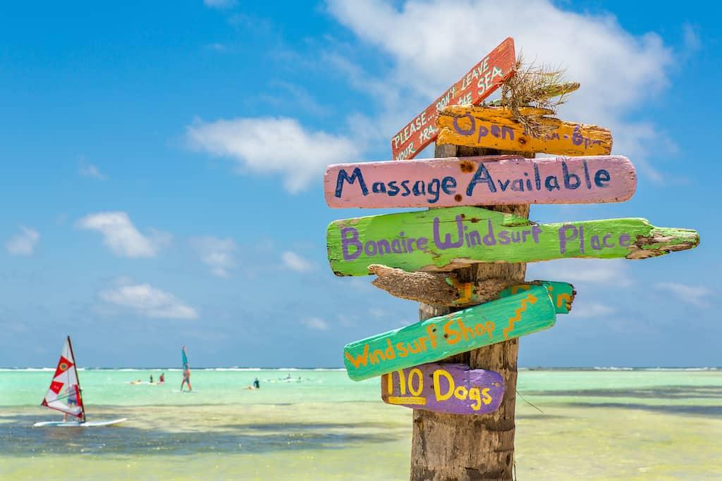 Bonaire island in Caribbean