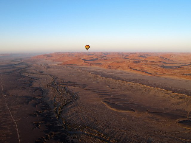 Hot Air Ballooning over Sossusvlei - African Safari Adventure on GlobalGrasshopper.com