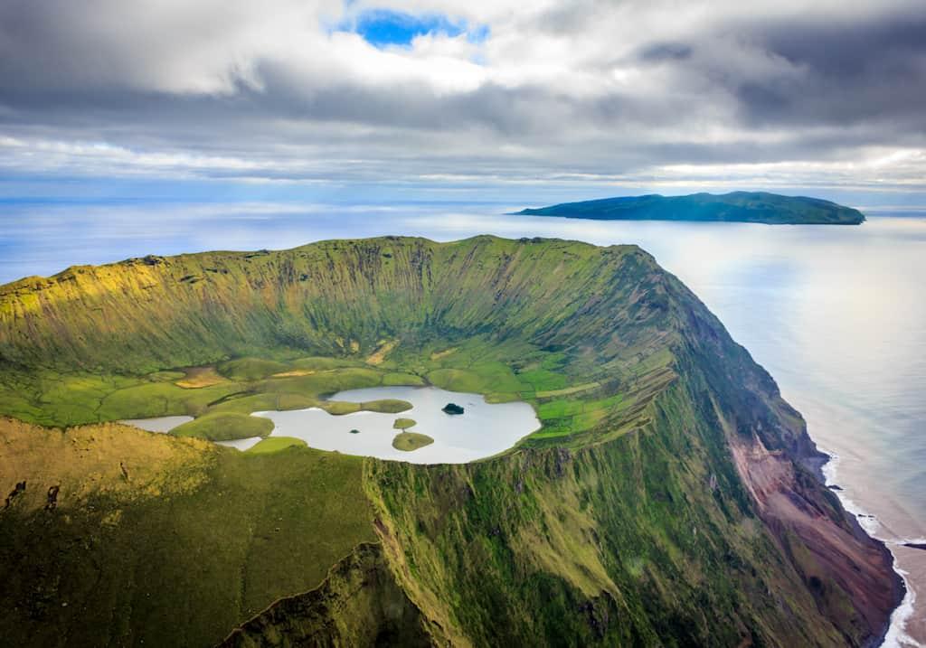 Corvo island in the Azores, Portugal
