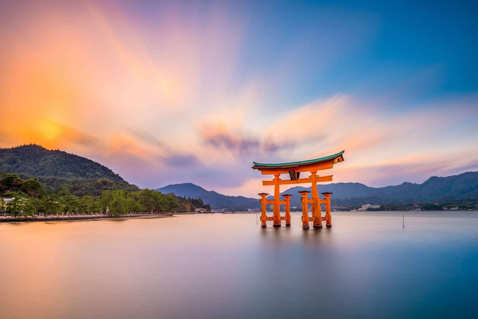 sunset at Miyajima Japan