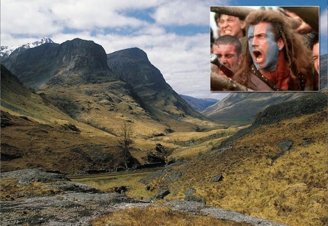 Scottish Higlands Braveheart - movie location travel destinations on GlobalGrasshopper.com
