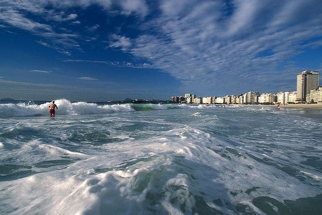 Surf at Copacabana Beach on GlobalGrasshopper.com