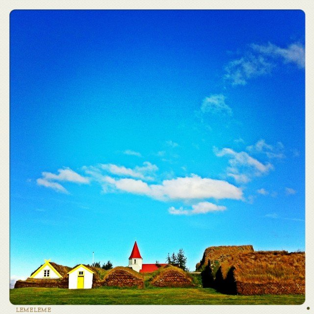 Turf houses - Iceland on GlobalGrasshopper.com