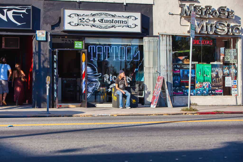 cool shops on Melrose Avenue LA