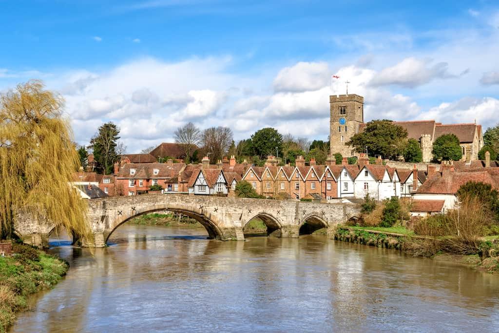 Aylesford village in Kent