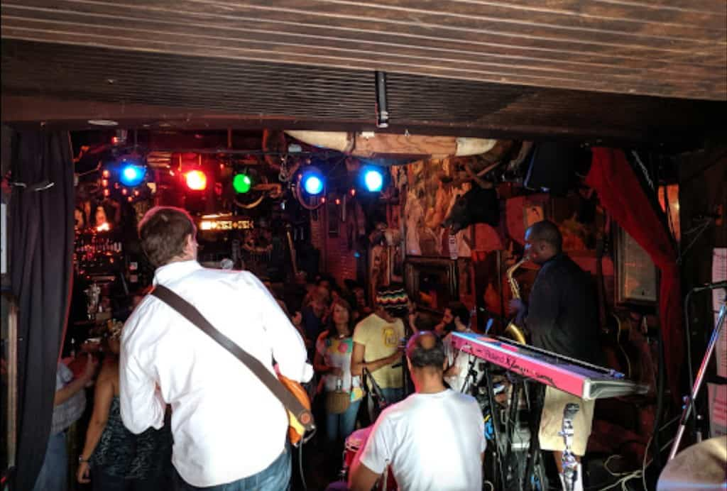 A lively blues bar USA